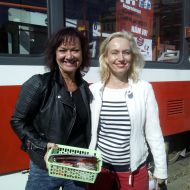 Marta Semelová s Helenou Grofovou