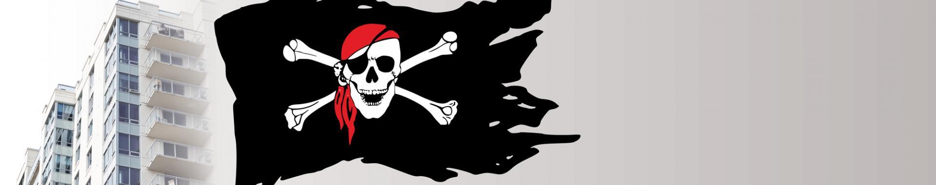 piráti, prázdné byty, ksčm